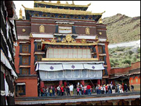 A Buddhist temple in Tibet