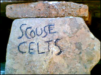 Graffiti at Skara Brae