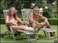Naked gardeners Ian and Barbara Pollard