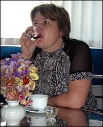 "A woman undergoes ""wine therapy"" at the Crimean Stars Sanatorium"