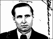 Владас Заянчкаускас на фото для американской визы, выданной в 1950 году (предоставлено министерством юстиции США)