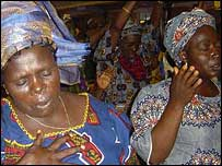 Nigerian women in church