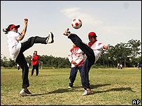 Jugadoras del equipo internacional de fútbol femenino de Afganistán