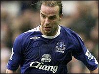 Everton midfielder Andy van der Meyde