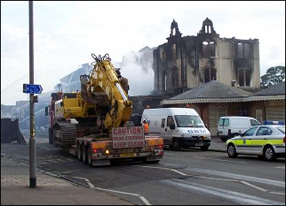 Demolition crews arrive