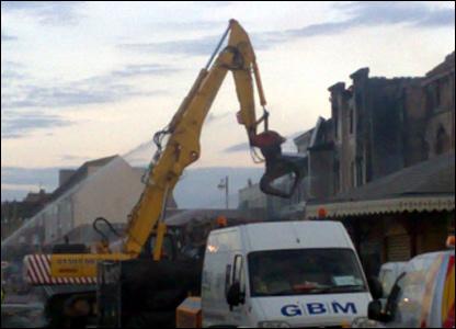 Demolition crews at work