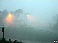 Hurricane Dean hits Fort de France, Martinique, on 18 August