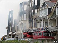 Wreckage of Penhallow Hotel