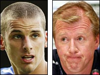 David Bentley and England coach Steve McClaren