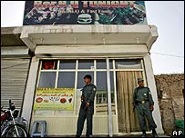 The restaurant in Kabul from which the woman was abducted