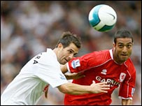 Fulham defender Carlos Bocanegra and Boro striker Mido
