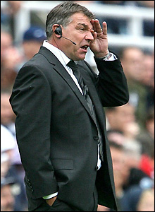 Sam Allardyce surveys the action in Newcastle