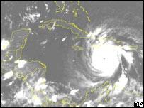 El huracán Dean.
