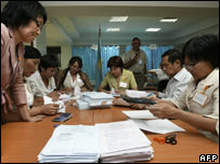 Vote counting in Kazakhstan parliamentary elections