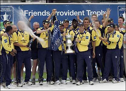 Durham celebrate their victory