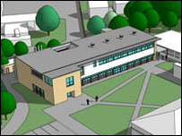 Artist's impressions of the research centre