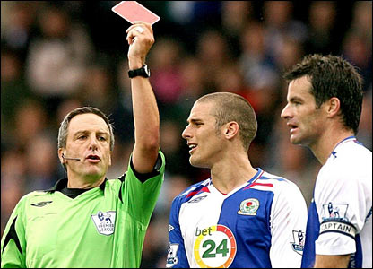 Ryan Nelsen is sent off
