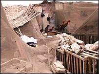 Casa destruida en Pisco