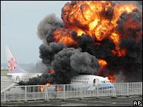 Пожар на самолете