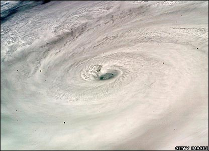 Hurricane Dean seen from the Space Shuttle Endeavour