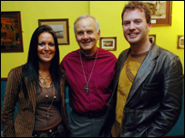 Wendy Sanderson, an evangelist from the Church Army who runs Solace, Barry Morgan and the Reverend James Karran,