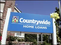 The exterior of the Countrywide home loans office in San Mateo, California