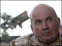British General Sir Richard Dannatt in Afghanistan