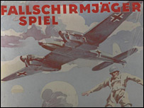 German paratrooper game box detail