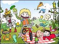 Still from the cartoon series, Little J