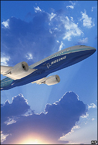 Artist's impression of Boeing 787 (Image: AP/Boeing)