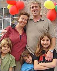 Joe and Rachel Pritchard with children Jenna, Rhys and Rowan