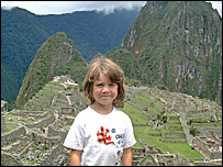 Jenna at Machu-Picchu in South America