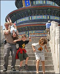 Joe, Rowan, Rhys and Jenna in Beijing