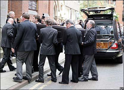 Tony Wilson's funeral