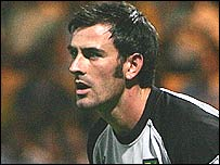 Norwich goalkeeper Paul Gallacher