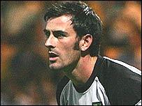 Norwich goalkeeper Paul Gallacher