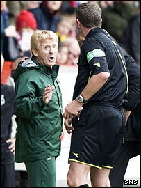 Gordon Strachan is sent packing by referee Charlie Richmond