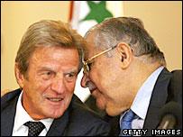 Bernard Kouchner and Jalal Talabani