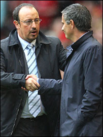 Rafa Benitez and Jose Mourinho