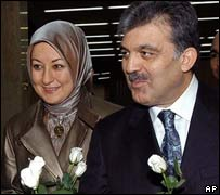 Turkish Foreign Minister Abdullah Gul and his wife Hayrunisa Gul - 22/07/2007