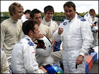 Nigel Mansell and the Formula BMW drivers