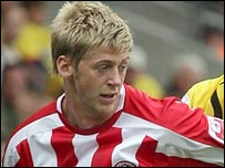 Jon Stead in action for Sheffield United
