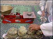 Opium being sold at Shaddle Bazaar