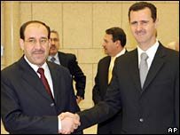 Iraqi Prime Minister Nouri Maliki and Syrian President Bashar al-Assad in Damascus