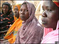 Residents of Kalma Camp in southern Darfur, Sudan