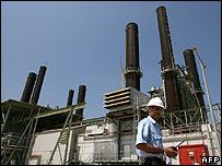 Planta termoeléctrica en Gaza