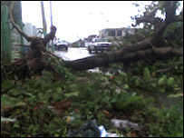 Chetumal in Mexico after Hurricane Dean