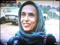 An image grab of Haleh Esfandiari taken from Iranian TV footage