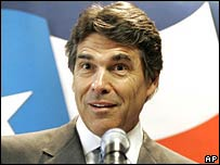 Texas Governor Rick Perry on 9 July 2007