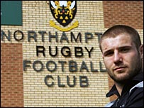 Ben Cohen pictured outside Northampton's Franklin's Gardens stadium